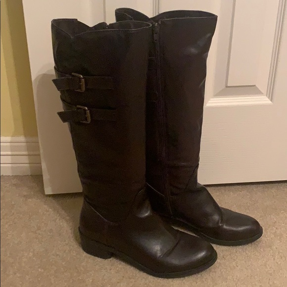 Mase Shoes - Tall Dark Brown Riding Boots